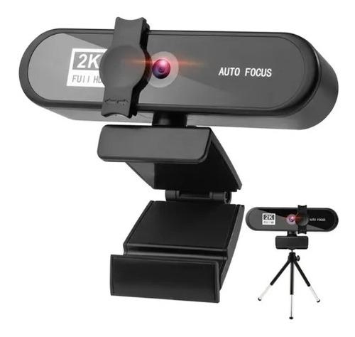 Webcam 2k 1440p 60fps Auto Zoom Microfone