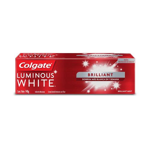 Pasta Dental Colgate Luminous White Brilliant En Crema 140g
