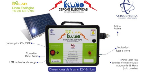 Impulsor Cerca Solar 40km Con Lampara Led (todo En Uno)