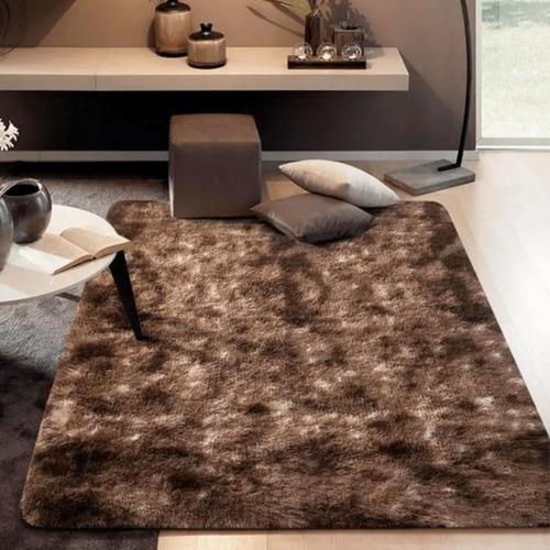 Tapete Carpete 1,50x2,00 Sala Quarto Felpudo Peludo Vermelho