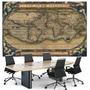 Mapa 65x100 Antigo Sec. 16 Foto Enfeite Para Casa Escritório