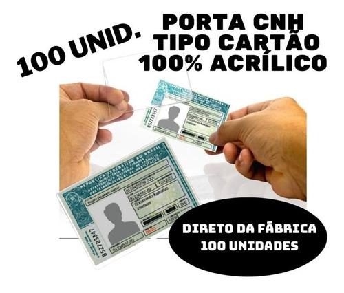 Protetor De Cnh Documento Habilitação Acrílico 100 Unid.