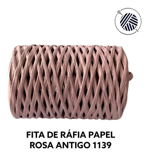 Fio De Papel Ráfia Modelo Fita - Raffia Crochê - 100% Papel