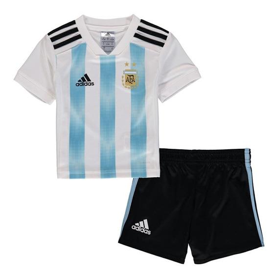 Conjunto De Argentina Titular Oficial Niño +pelota De Regalo
