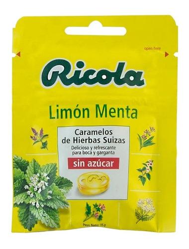 Caramelos Sin Azucar Ricola Limon Menta 15g