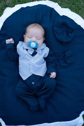 Saida De Maternidade 05 Peças -  Menino Azul