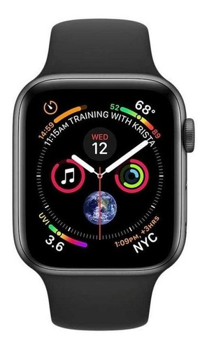 Smartwatch Iwo Iwo 1:1 Iwo12 Series 5 1.54  Caixa 44mm  Black Pulseira  Black