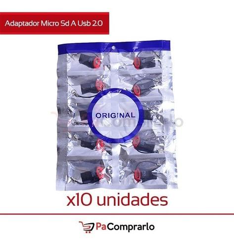 Adaptador Micro Sd A Usb 2.0 -  X10 Unidades