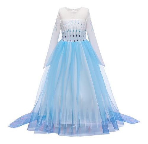 Vestido De Menina Elsa Fantasia Princesa Elsa Anna