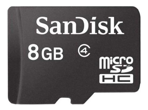 Tarjeta De Memoria Sandisk Sdsdqm-008g-b35a Con Adaptador Sd 8gb