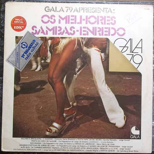 Lp Gala 79 Apresenta Os Melhores Sambas Enredo Original