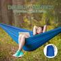 Duplo 2 Pessoa Rede Cadeira Dormir Cama 210t Nylon Ao Ar Liv
