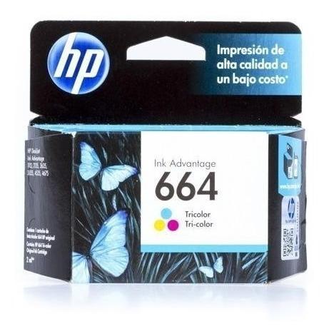 Cartucho Hp 664 Tricolor Ink Cartridge Para Impresoras Ink