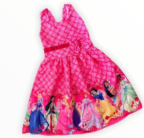 Vestido De Festa Infantil Temático Princesas