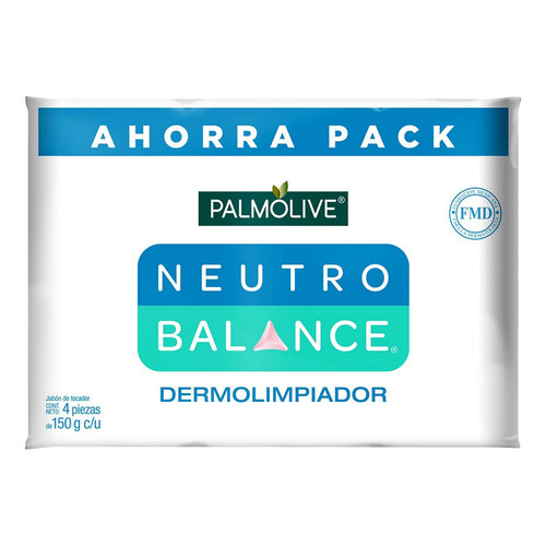 Jabón En Barra Palmolive Neutro Balance Dermo Purificante 150g 4u