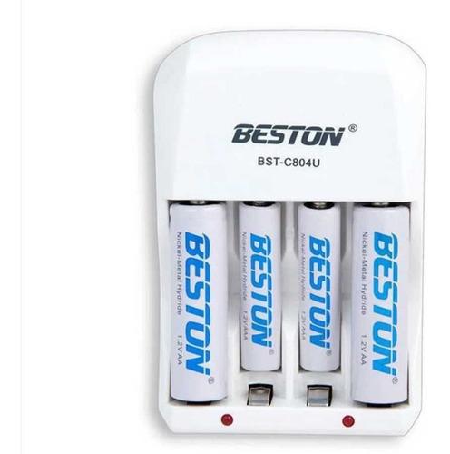Pilas Baterias Recargables Aaa Y Aa + Base Cargadora Beston