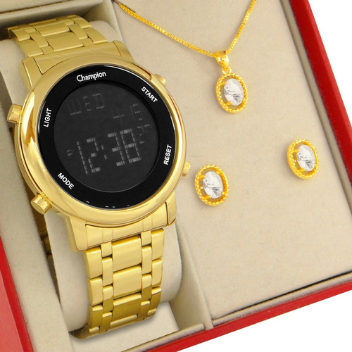 Relógio Feminino Champion Digital Led Original Com Garantia