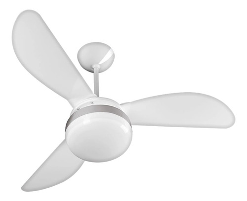 Ventilador De Teto Ventisol Fênix Controle Branco E Silver Com 3 Pás Cor  Branco De  Plástico, 960mm De Diâmetro 127v