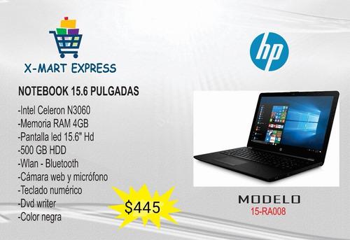 Laptop Notebook Hp Intel Celeron N3060 15.6  Ram 4gb 500 Gb