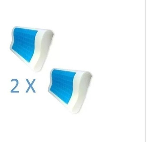 2 Almohadas Cool Pillow Ortopédicas Con Gel Refrescante