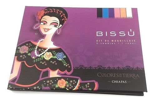 Kit De Maquillaje Bissu 6 Sombras Y Un Rubor Chiapas