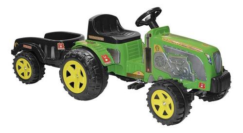 Trator De Brinquedo Caçamba A Pedal Até 35 Kg Verde Biemme