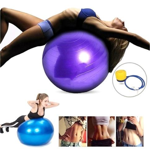 Bola Suiça Pilates 65cm Bomba Gratis Yoga Abdominais 150kg