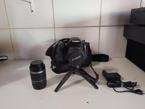 Canon Rebel T2i Lente 18 55mm E Lente 55 250mm C/ Bolsa