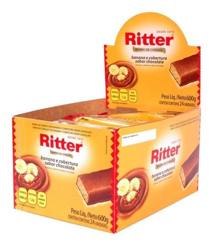 5 Caixas Barra Cereal Ritter 24x25g - Escolha O Sabor