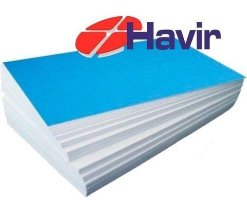 Papel Havir A4 Fundo Azul 250 Folhas 90 Gramas, Mais Leve