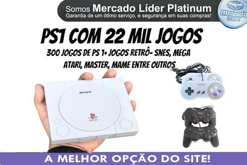 Mini Playstation 1 C/ 4 Controles 21 Mil Jogos