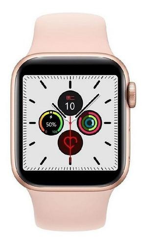 Smartwatch Iwo Iwo 1:1 Iwo12 Series 5 1.54  Caixa 44mm  Rose Gold Pulseira  Pink
