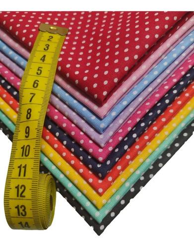Kit Tecido Tricoline Poa -50% Algodão - 10 Cortes De 50x70cm