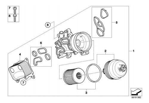 Filtro Aceite Bmw Mini Cooper R55 R56 R57 R58 R59 R60 R61  Foto 5