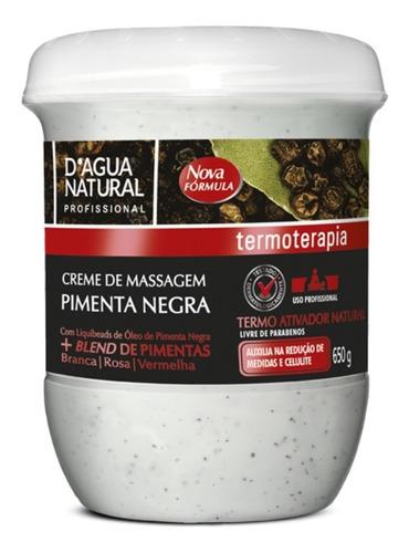 Creme Massagem Pimenta Negra Termoativo Natural Reduz Medida