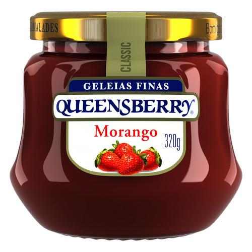 Geléia Queensberry Classic Morango Em Vidro Sem Glúten 320g