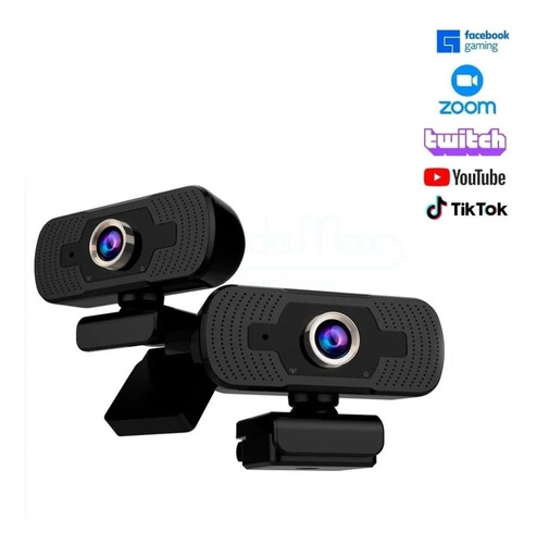 Webcam Full Hd 1080p Com Microfone Embutido Usb Câmera