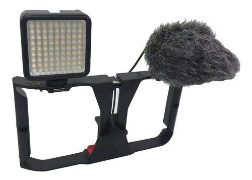 Kit Stedicam Celulares Led Soleste W81 microfone Mz1 T