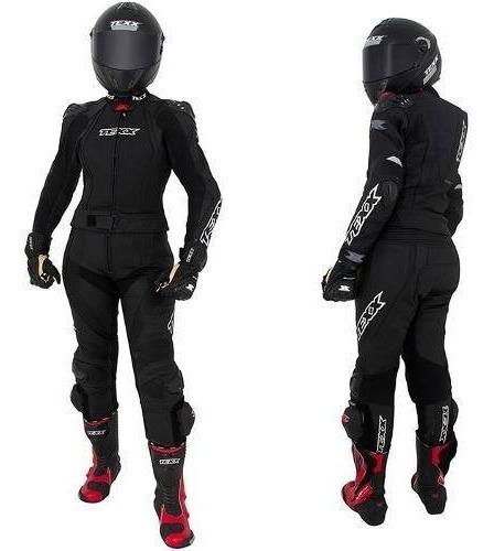 Macacão Moto Feminino Texx Diana Couro Bovino