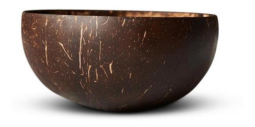 Kit Cumbuca /tigela /bowl De Coco Natural + Colher De Bambu