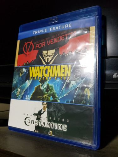 V For Vendetta, Watchmen, Constantine, Blu-ray Y Dvd.