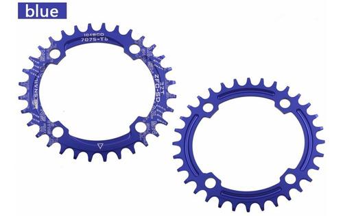 Coroa Única 36t Para Pedivela De Bicicleta Bcd 104mm 4 Furos