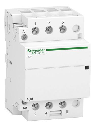 Contactor Modular Schneider Ict 40a 3na 230 Vca