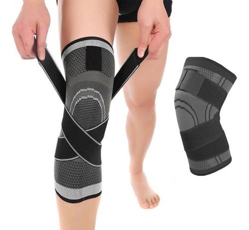 Joelheira Compressão Proteção Ajustável Fitness Cross