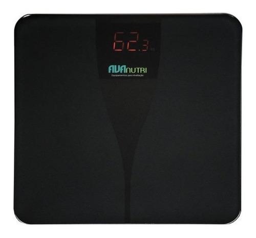 Balança Corporal Avanutri Digital Premium Preta, Hasta 180 Kg