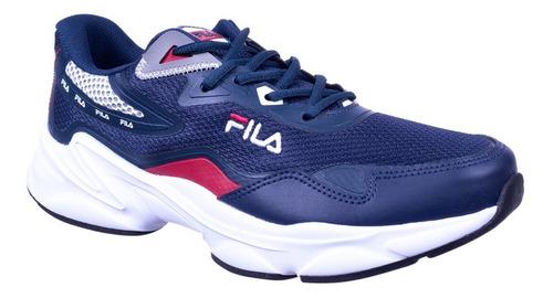 Tênis Masculino Knit Glorious Fila Azul/vermelho 915909