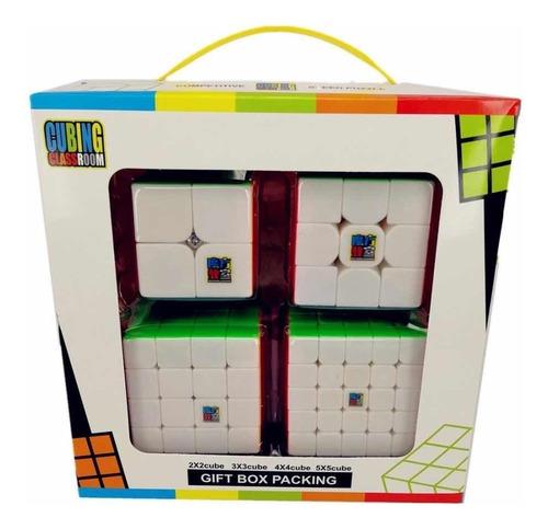 Kit Box Cubo Magico  Mofangjiaoshi Mf2s+mf3rs+mf4s+mf5s