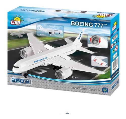 Avión Para Armar Boeing 777 Marca Cobi