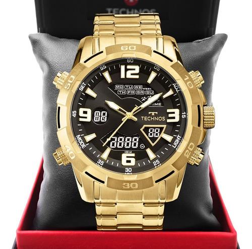 Relógio Masculino Technos Dourado Ts Carbon Os20ip/4c