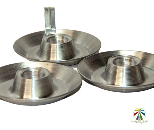 5 Unidades Suportes Porta Velas Palito Castiçal De Alumínio